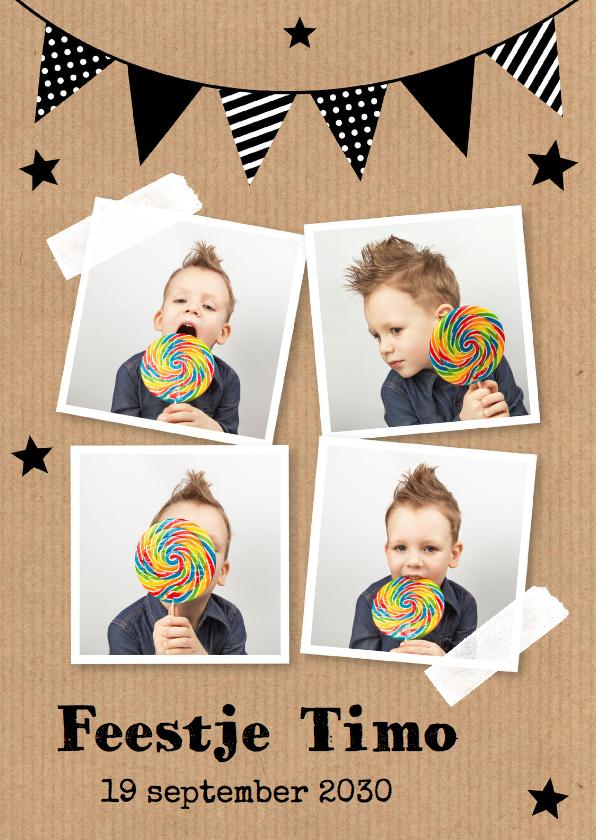 kinderfeest uitnodiging met foto